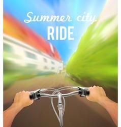 Handlebar colored poster vector
