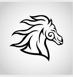horse logo icon vector image vector image