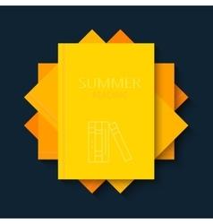 Modern concept sun and books summer vector