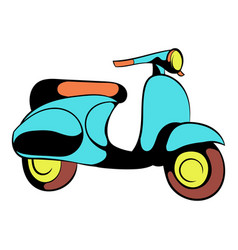 Motorcycle blue icon cartoon vector