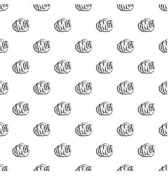 Omg comic text speech bubble pattern vector