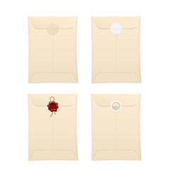 paper envelope with protection vector image vector image
