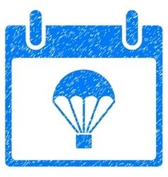 Parachute calendar day grainy texture icon vector