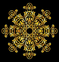 Pattern gold vector image vector image
