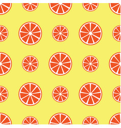 seamless pattern with orange slices vector image vector image
