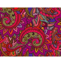 Seamless pattern with traditional oriental floral vector image vector image