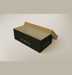 Shoes product packaging mock-up box 4 vector