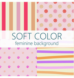 Soft color feminine abstract background pattern vector