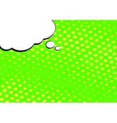 Speech bubble on pop art style background vector