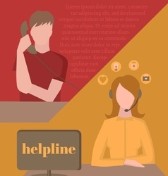 Support service call center vector image vector image