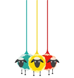 Three Yarn Sheep vector image
