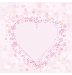 valentine pink heart vector image