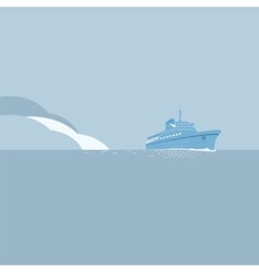 Cruise ship background vector