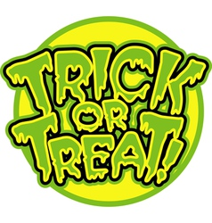 Trick or Treat logo vector image