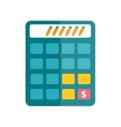 Business calculator technology icon vector