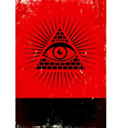 Pyramid and the eye vector
