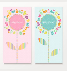 Baby shower cards vector