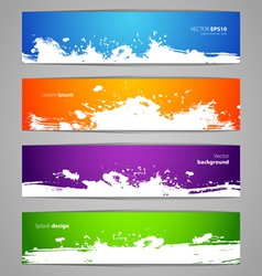 splash banners vector image