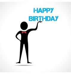 Man holding happy birthday vector