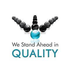 we stand ahead in quality vector image