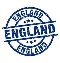 England blue round grunge stamp vector