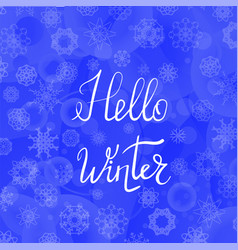 Hello winter typographic poster vector