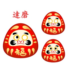 Japanese daruma  dolls vector