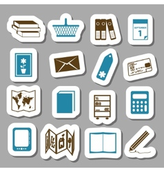 Bookshop stickers vector