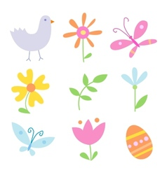 Spring holiday objects vector