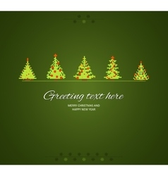Fir-trees winter background vector