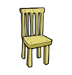 Comic cartoon wooden chair vector