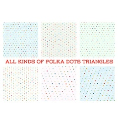 Polka dot triangle colorful design in background vector