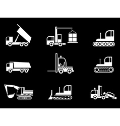 heavy machines vector image
