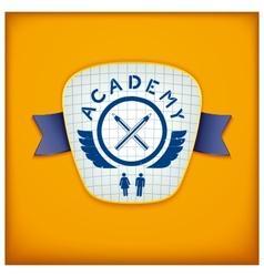 Academy label design vector
