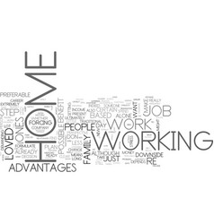 are you suitable to work from home text word vector image