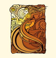beautiful tribal woman vector image