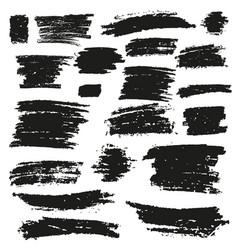 Black brush stroke vector