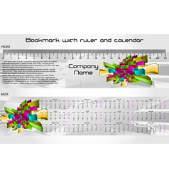 Bookmark calendar vector