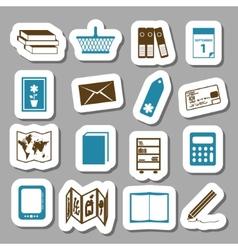 Bookshop stickers vector