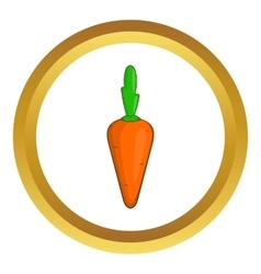 Carrot icon vector