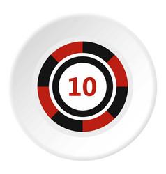 Casino chip icon circle vector