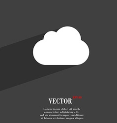 cloud icon symbol Flat modern web design with long vector image