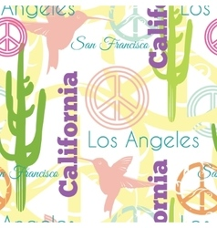 Colorful california animals travel seamless vector
