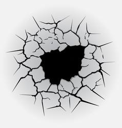 cracks circle hole vector image vector image