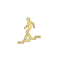 Down staircase computer symbol vector image vector image