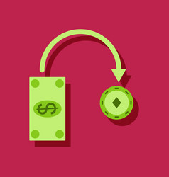flat icon design collection money equal chips in vector image vector image
