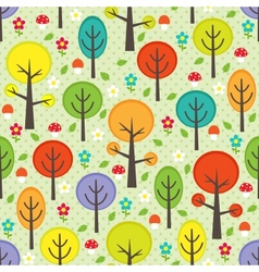 Forest seamless background vector image vector image