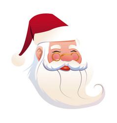 funny face santa claus christmas celebration image vector image vector image