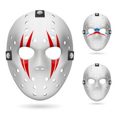 Hockey mask on white background for design vector