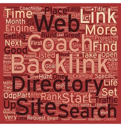 How to Hunt for Big Game Backlinks text background vector image